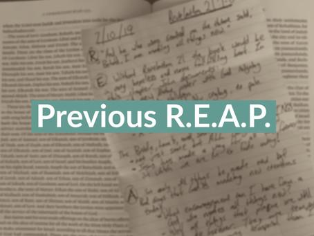 REAP: Ephesians 2:1-10