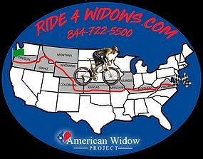 Ride 4 Widows Fundraiser Logo