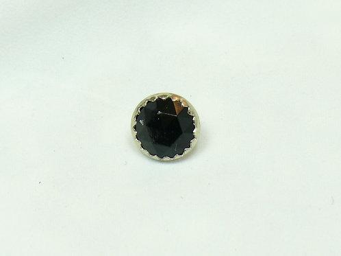 Ösen Knopf , schwarz Glasstein ( 12,5 mm )