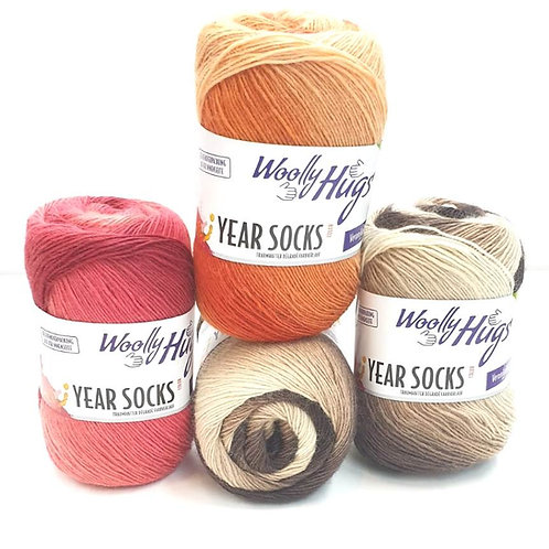 """""""Woolly Hugs"""" Sockenwolle / 4 Knäul / 400g  / Statt 39,80 Euro jetzt nur 30 Eur2"""
