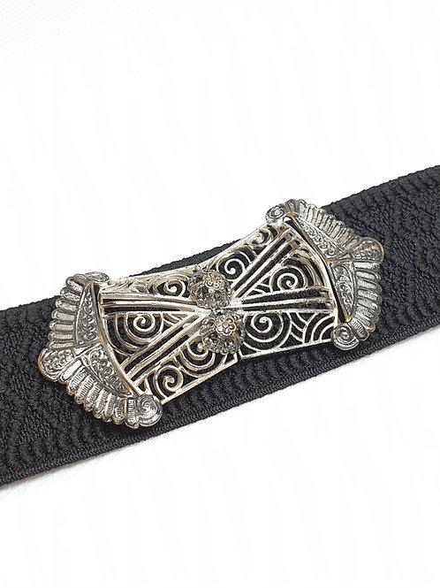 True Vintage Schürzen-Schließe / Silber