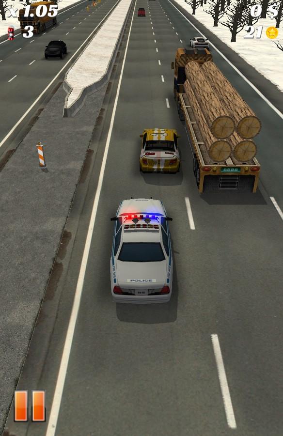 Carro da polícia botando pra quebrar!