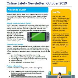 Online Safety Newsletter - October 2019