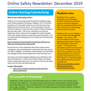 Online Safety Newsletter - December 2019