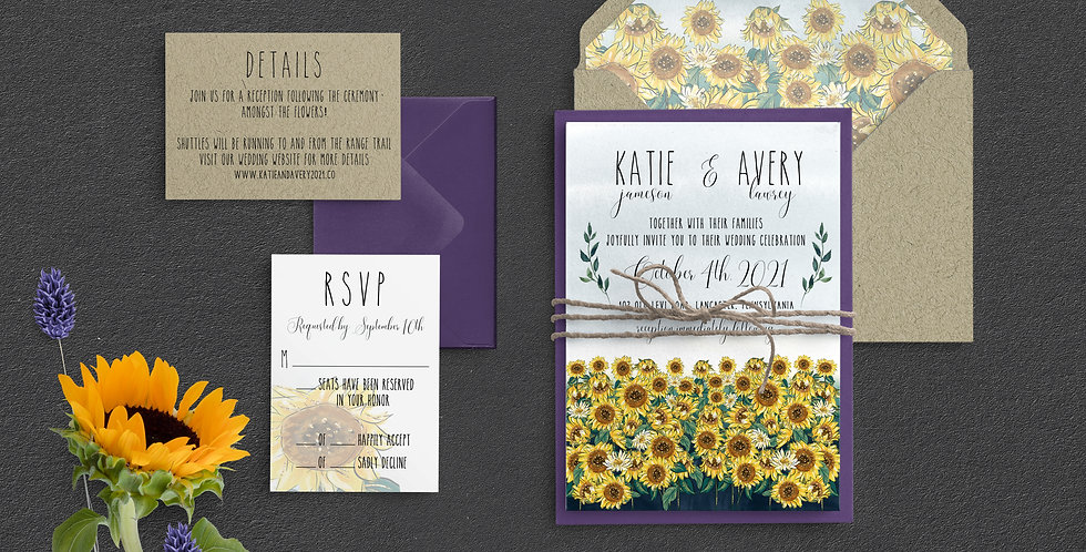 Sunflower Field Wedding, Katie Suite