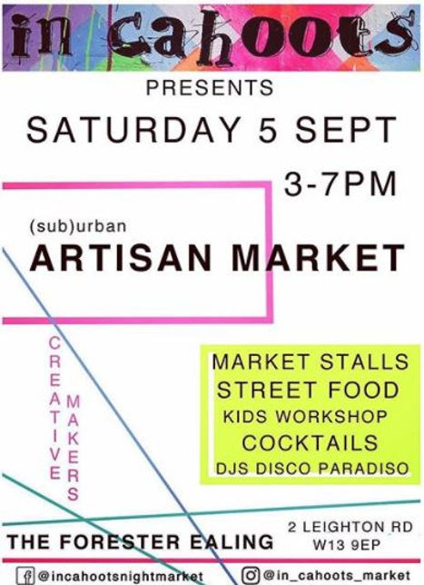 In Cahoots Market Poster 5th September 2