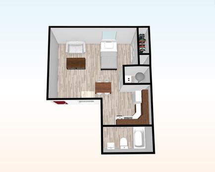 Animated Floor Plan Smithfield Studio .J