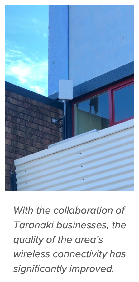 With the collaboration of Taranaki businesses, the quality of the area's wireless connectivity has significantly improved.