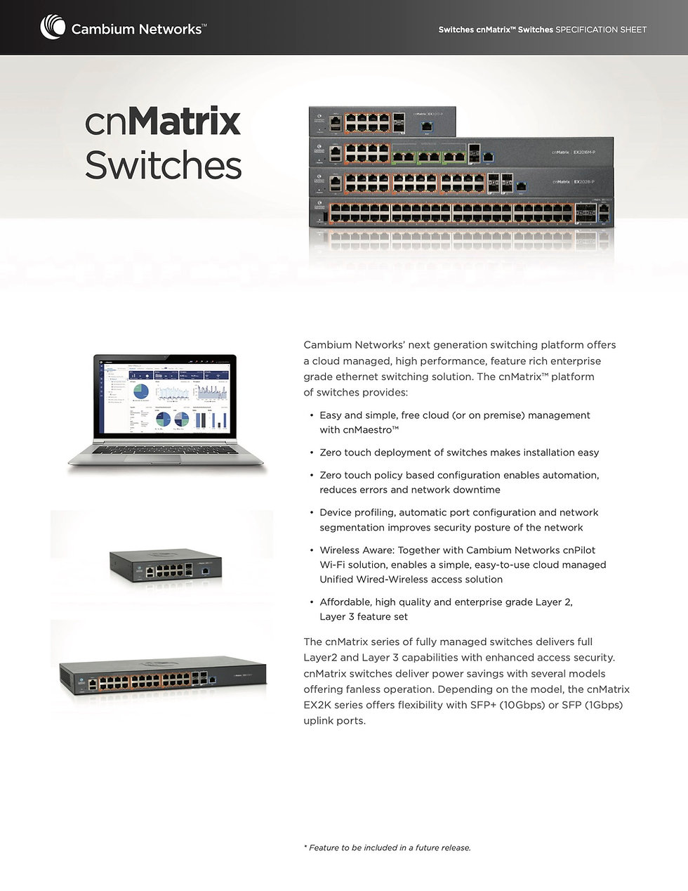 Cambium cnMatrix Switches Specification