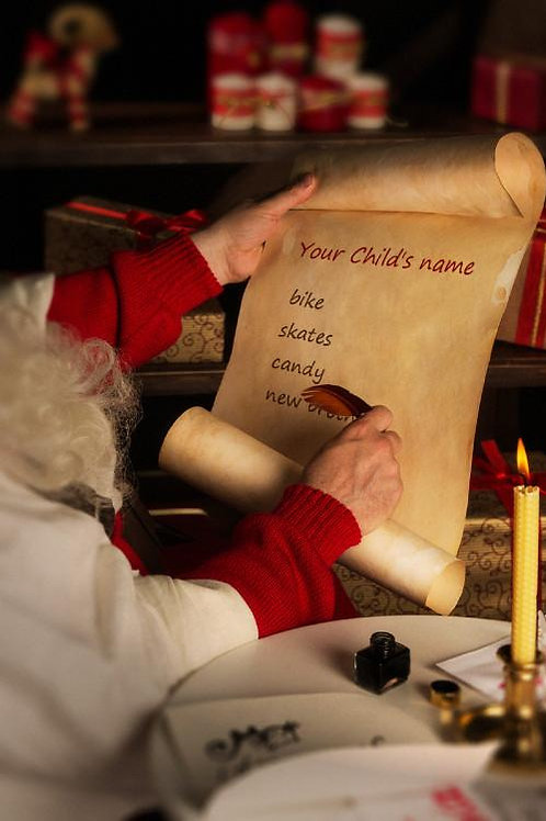 Santa Reading your childs Christmas list