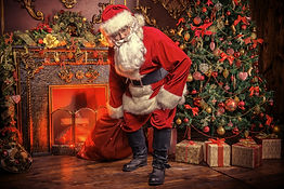 Froglan Santa at Christmas Village