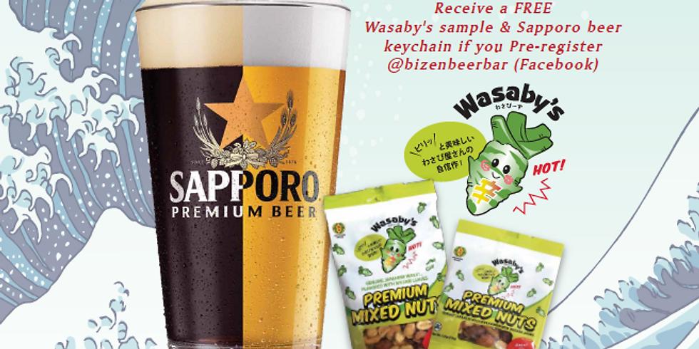 Sapporo & Wasaby's Beer Garden at Bizen Beer Bar