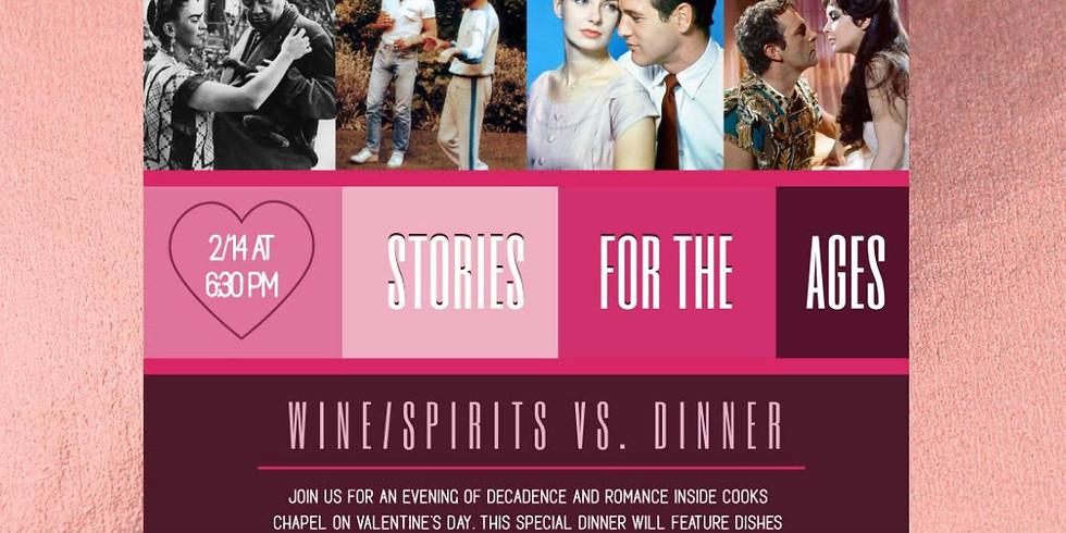 Love Stories For The Ages   Wine/Spirit v.s Beer Dinner