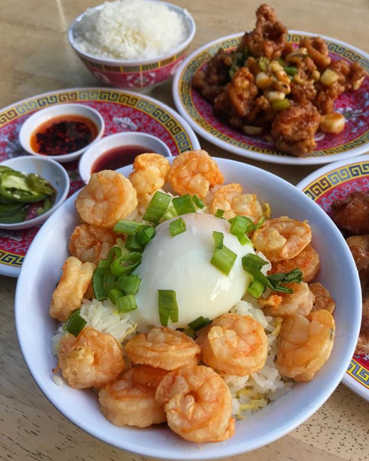 Shrimp Fried Rice and Kung Pao Chicken