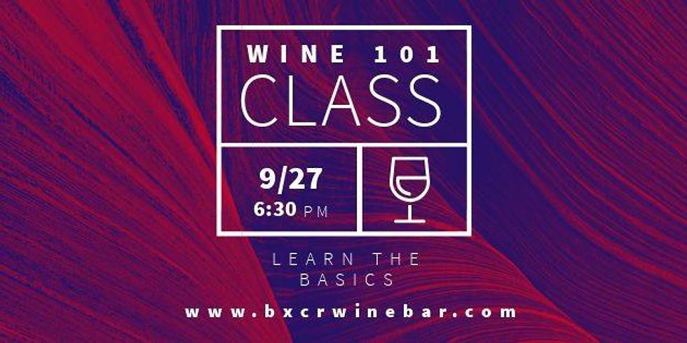 Wine 101 Class With BXCR Wine Bar