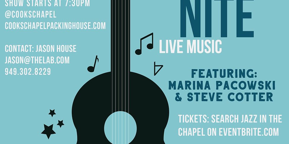 Jazz in the Chapel: Marina Pacowski & Steve Cotter
