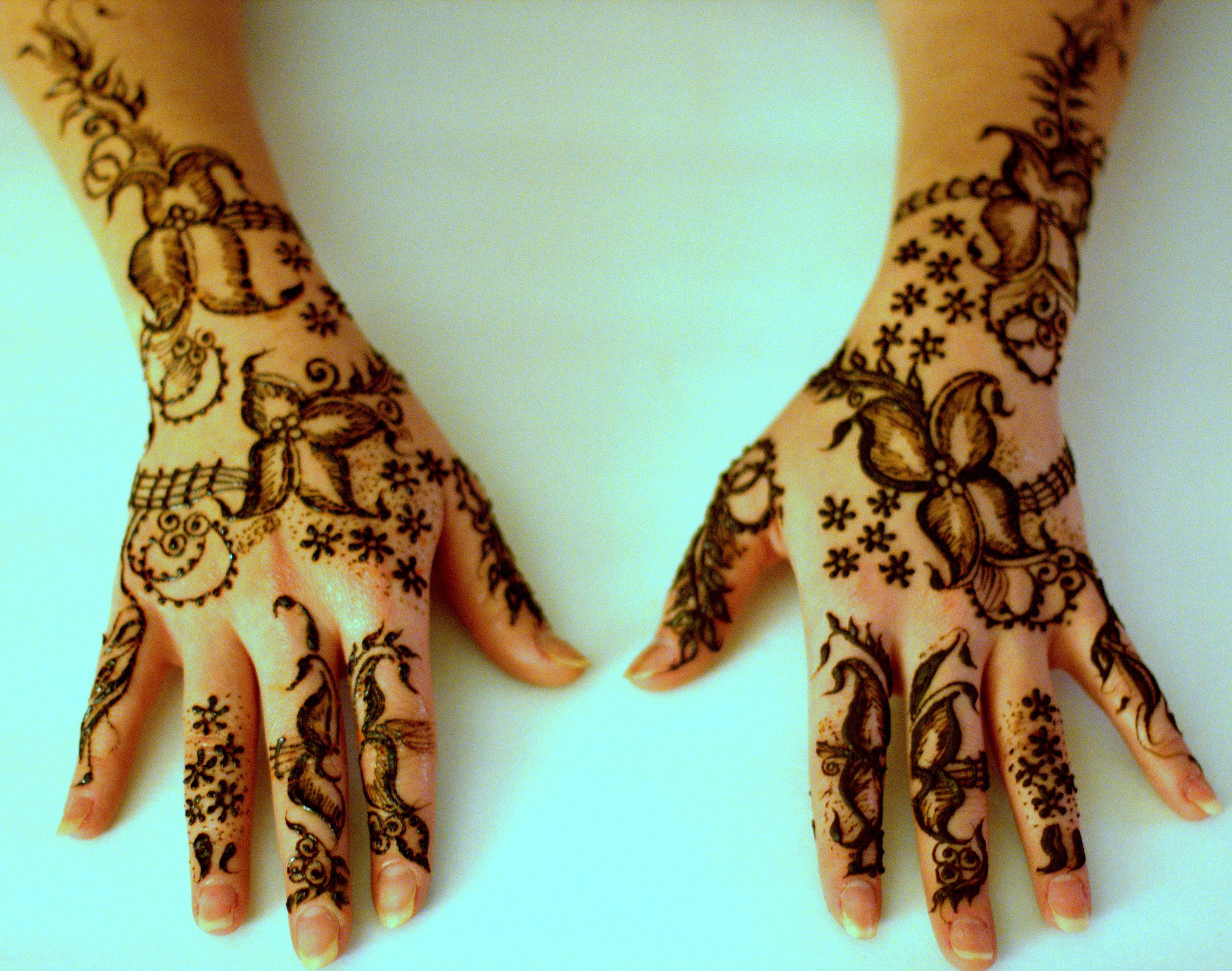 Gulf Style Henna Design For A Client Henna Dc Mehndi Northern Va