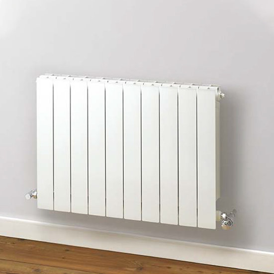 Decoral 97 Horizontal Aluminium Radiator cover | 407mm tall | Foundry