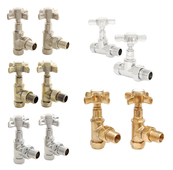 Westminster Traditional Manual Cross-Head Radiator & Towel Rail Valves | West