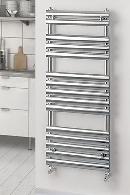 Oval Polished Stainless Steel Towel Rail   Foundry