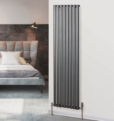 Finsbury Vertical Steel Radiator Tall | Double | Foundry