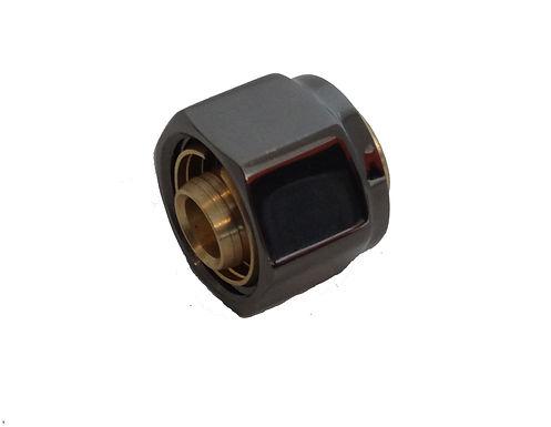 Multilayer Pipe Valve Adapter Nut Black Nickel