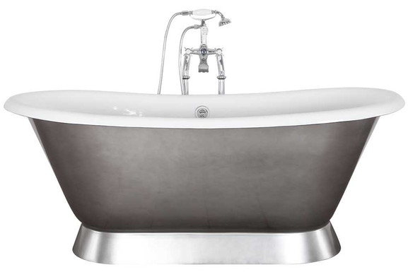 Montreal Cast Iron Bath | Pewter Luster | Jig