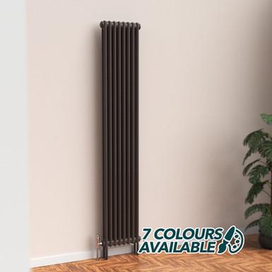 Fitzrovia 2 Column Steel Radiator Vertical   Coloured   Foundry