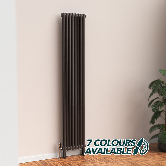 Fitzrovia 2 Column Steel Radiator Vertical with feet | Coloured | Foundry