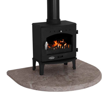 Carron Travertine Curved Stove Hearth