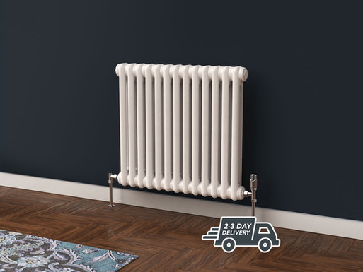 Fitzrovia 2 Column Steel Radiator Horizontal | White | Foundry