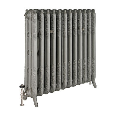 The Rococo 3 Column 970mm Cast Iron Radiator | Castrads