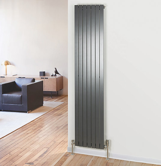 Primrose Vertical Steel Radiator | Single | Foundry