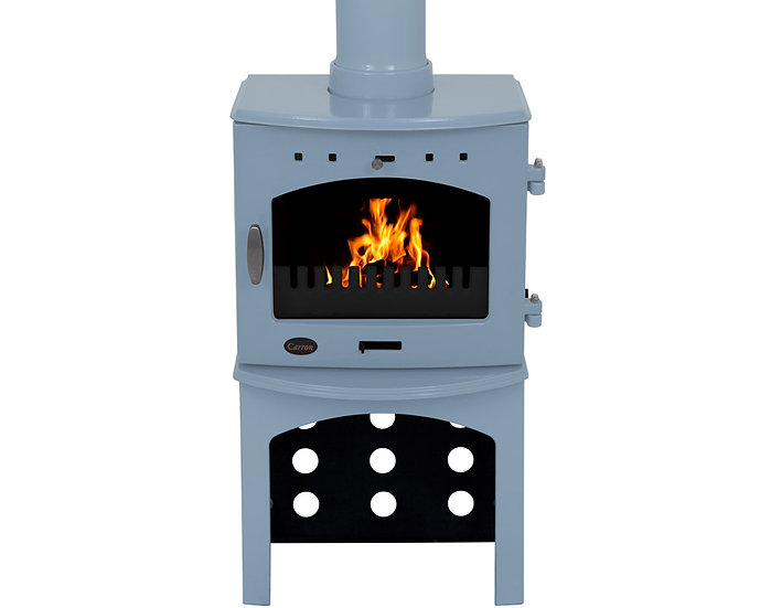 Carron 7.3KW Stove Log Store | China Blue