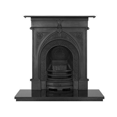 Knaresborough Cast Iron Combination Fireplace   Black   Carron