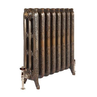 The Rococo 3 Column 768mm Cast Iron Radiator   Castrads