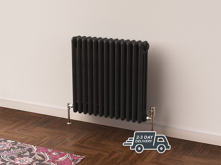 Fitzrovia 3 Column Steel Radiator Horizontal hanging | Anthracite | Foundry