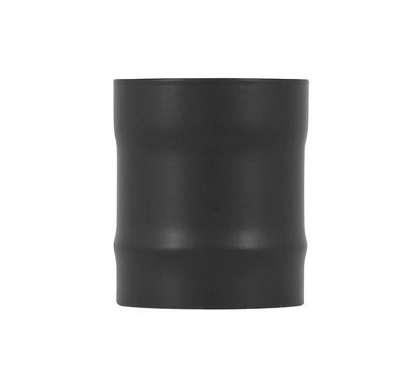 Carron straight stove pipe connection matte black