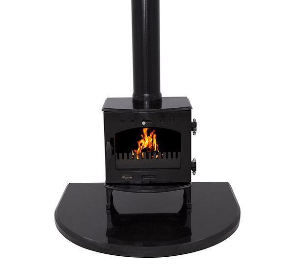 Carron Black Granite Curved Stove Hearth