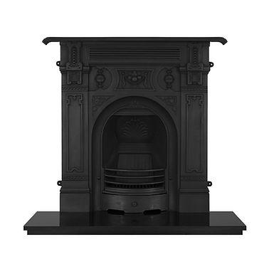 Victorian Large Cast Iron Combination Fireplace   Carron