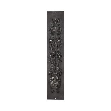 Set of 2 Flower and Vase Cast Iron Panels - Highlight Polish   Carron