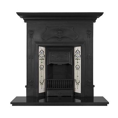Verona Cast Iron Combination Fireplace   Black   Carron