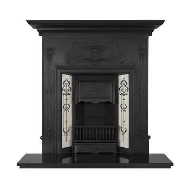 Verona Cast Iron Combination Fireplace | Black | Carron