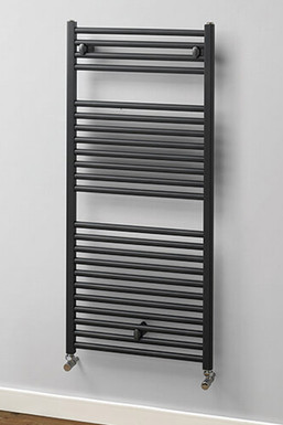 Brompton Aluminium Towel Rail | Graphite | Foundry