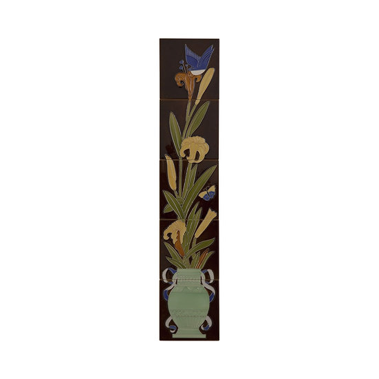 Set of 10 Strip Bird and Flowers Tiles   Carron