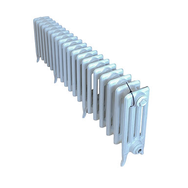 The Neo Classic 460mm, 4 Column, 20 Sections   RAL 9010 Pure White   Arroll