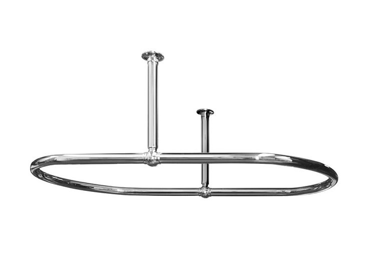 Traditional 1091mm Oval Chrome Shower Curtain Rail