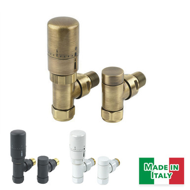 Radius Thermostatic Valve Set | Angled & Straight | MHS