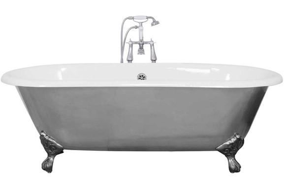 Bisley Cast Iron Bath   Pewter Luster   Jig