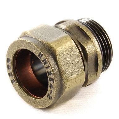 22mm Compression Adaptor - Old English Brass